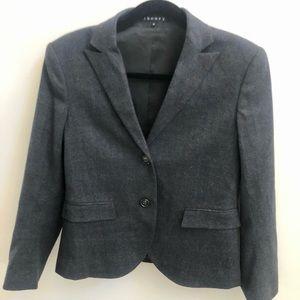 Theory Women's Grey Wool Fitted Blazer